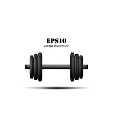 barbell background vector image