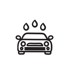 Car wash sketch icon vector