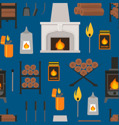 cartoon fireplace background pattern vector image vector image
