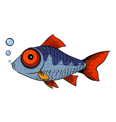 Cartoon image of fish vector