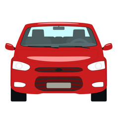 Cartoon red car front view vector