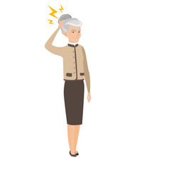 Caucasian business woman with lightning over head vector
