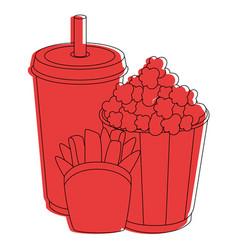 cinema food cup vector image