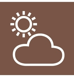 Cloudy Weather vector image vector image
