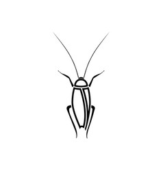 cockroach black color icon vector image vector image