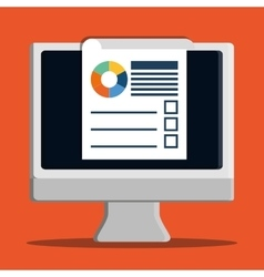 Development with gadget design desktop vector image