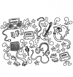 doodle rock vector image vector image