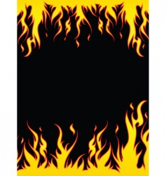 Fiery border vector