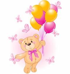 Girl teddy vector
