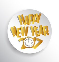 Happy new year 2017 seasons greetings clock design vector