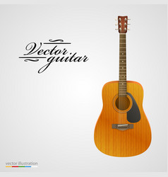 Isolated on white acoustic guitar vector