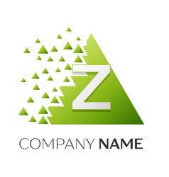 Letter z logo symbol in colorful triangle vector