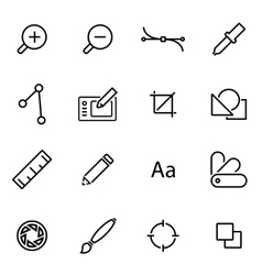 line graphic design icon set vector image
