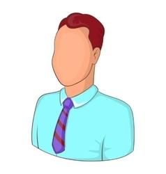 Manager avatar icon cartoon style vector