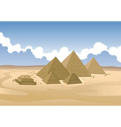 pyramid of Egypt vector image vector image