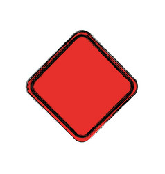 traffic sign danger warning blank vector image