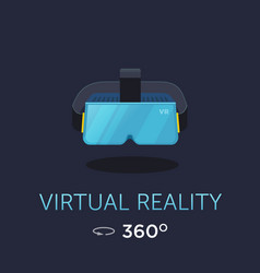 Vr headset icon virtual reality glass vector