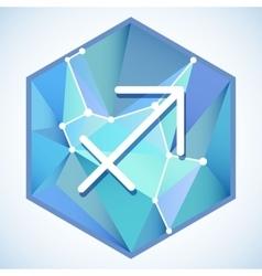 Zodiac sign and constellation into hexagonal vector