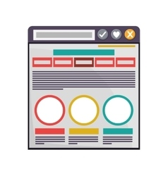 Internet browse window vector