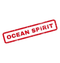 Ocean spirit rubber stamp vector
