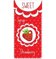 Sweet fruit labels for drinks syrup jam vector