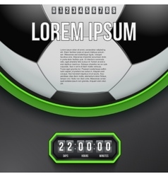 Football coming soon and countdown timer vector