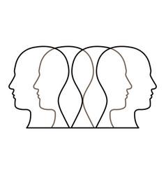 figure contour humans icon vector image