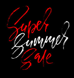 Summer sale inscription handwritten modern vector