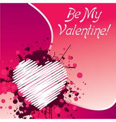 Be my valentine's vector