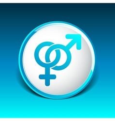 Male and female signs isolated on white background vector