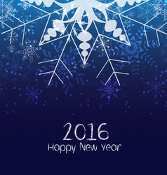 Happy new year 2016 winter christmas background vector