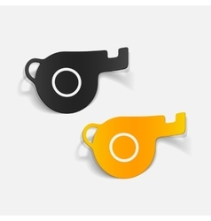 Realistic design element whistle vector