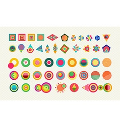 Geometry element set shape colorful icon symbol vector