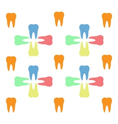 Colorful teeth pattern vector