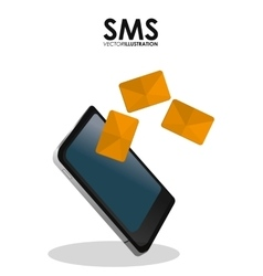 Sms and smartphone design vector