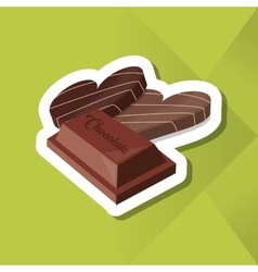 Colorful chocolate design vector