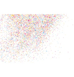 Confetti on white rectangle vector