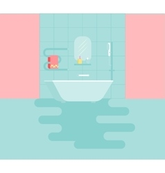 Bathroom with amenities vector