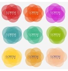 circular banners vector image