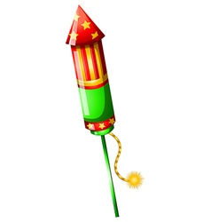 A colorful firecracker vector