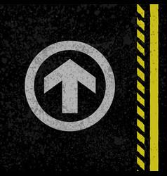 asphalt road sign vector image