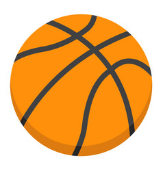 Basketball ball flat icon sport and game vector
