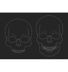 Chalk skull clip art vector