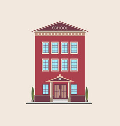 classic low-rise school building front view vector image
