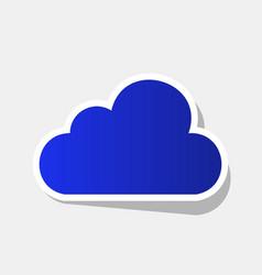 Cloud sign new year bluish vector