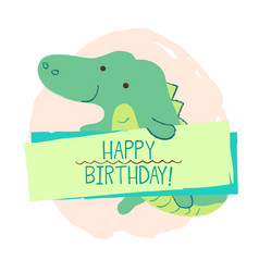 crocodile element of card vector image