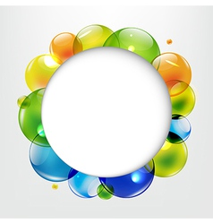 Dialog Balloons With Color Balls vector image