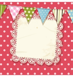 Doily and bunting background vector image