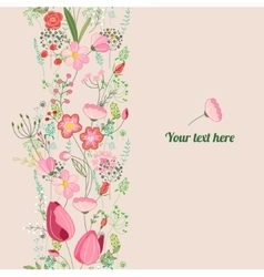 Floral spring template For romantic design vector image vector image