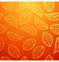 Fresh orange leaves pattern vector image vector image